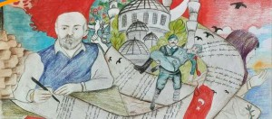 """""""ON KITA BİR VATAN İLELEBET İSTİKLAL"""" temalı resim yarışmasında 8.sınıf öğrencimiz Arya SERT'in çizdiği resim Çaycuma 1.liğinin ardından Zonguldak il genelinde de 1.oldu."""