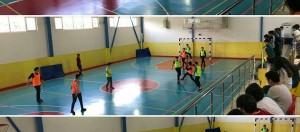 """""""Beslenme Dostu Okul"""" ve """"eTwinning – Mavi Kart (Fair-Play )"""" projeleri kapsamında düzenlediğimiz sınıflar arası futsal(Salon Futbolu) turnuvasının 4.gününde 7-A ile 7-C sınıfları karşılaştı."""